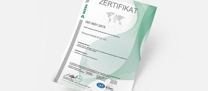 Begleitbild zu Certificate ISO 9001